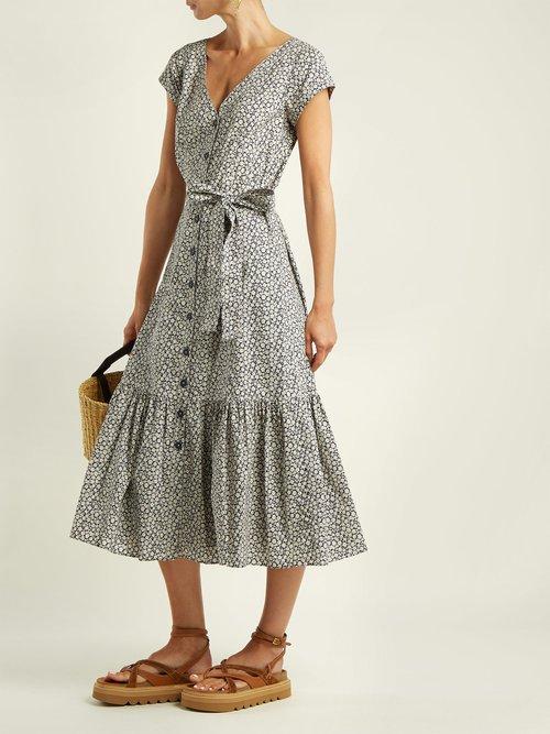 Lauren Floral Print Cotton Poplin Dress by Rebecca Taylor