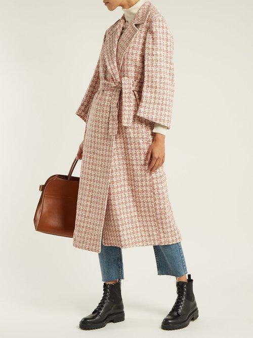Linda Tie Waist Tweed Coat by Giuliva Heritage Collection