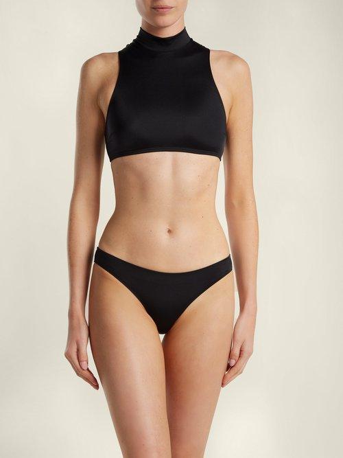 The Tiffany high-waisted bikini briefs by Solid & Striped