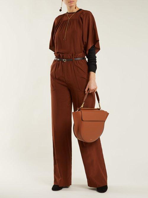 Hortensia large leather shoulder bag by Wandler