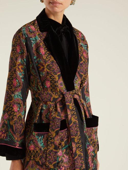 Jade Paisley Print Kimono Jacket by Etro