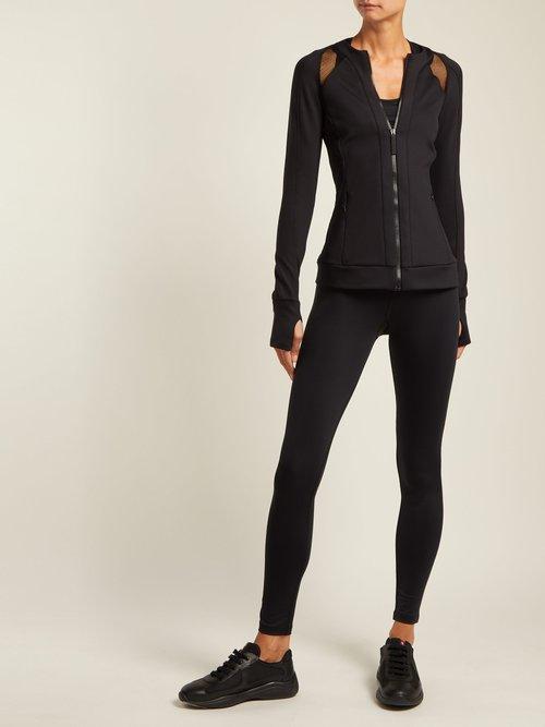 Zip Through Jersey Performance Jacket by Versace