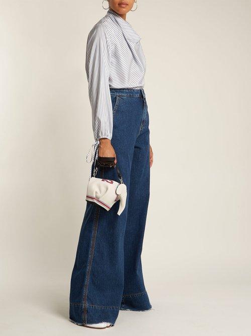 Elephant leather cross-body bag by Loewe