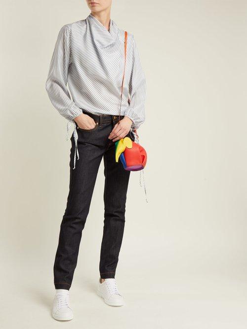 Elephant leather crossbody bag by Loewe