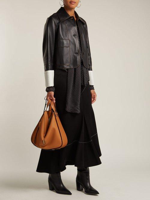 Hammock medium grained-leather bag by Loewe