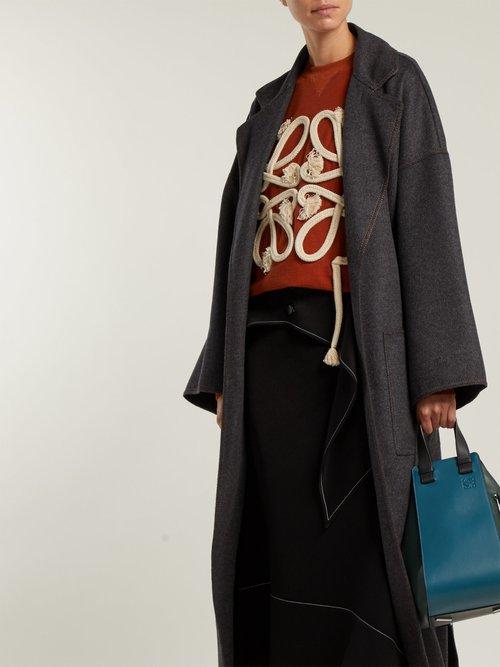 Tie Waist Wool Blend Coat by Loewe