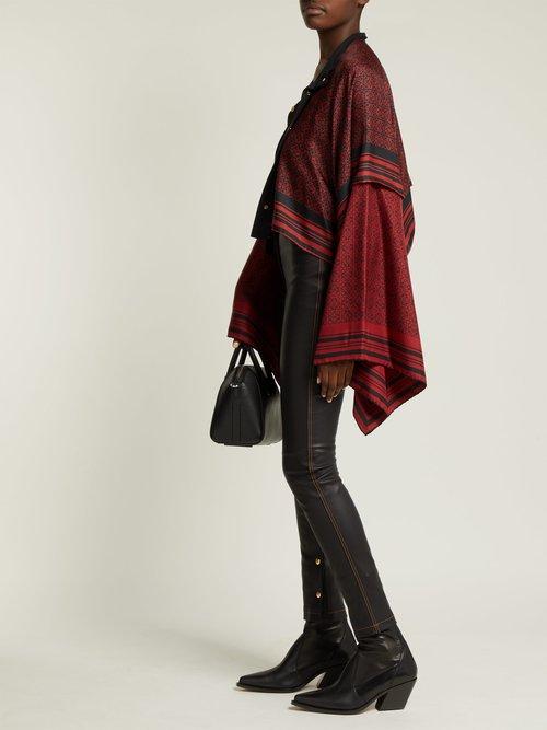 Anagram Print Silk Scarf Jacket by Loewe