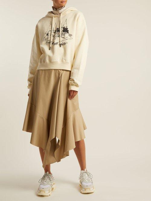 Sketch-print hooded sweatshirt by Off-White