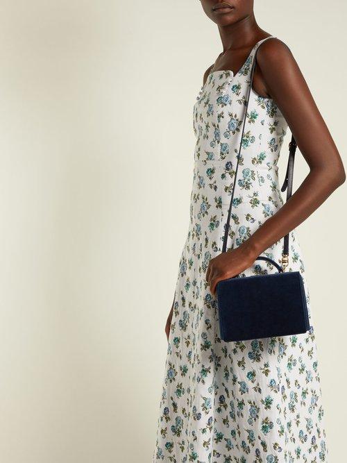 Photo of Grace Small Velvet Cross Body Bag by Mark Cross - shop Mark Cross online sales