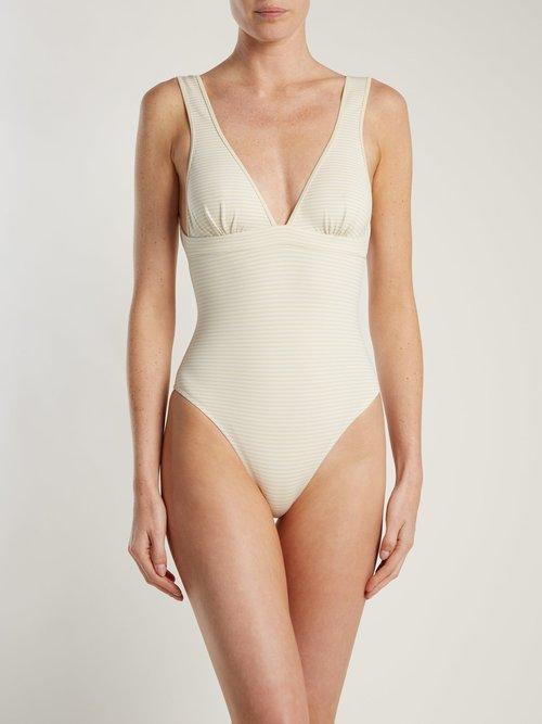 Nassau reversible tie-back swimsuit by Marysia
