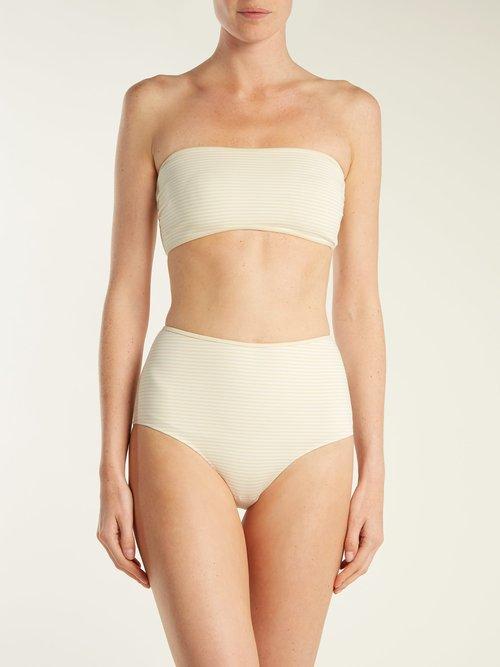 Adelaide reversible strapless bandeau bikini top by Marysia