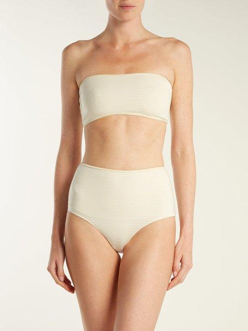 Tarpum Bay reversible high waisted bikini briefs by Marysia