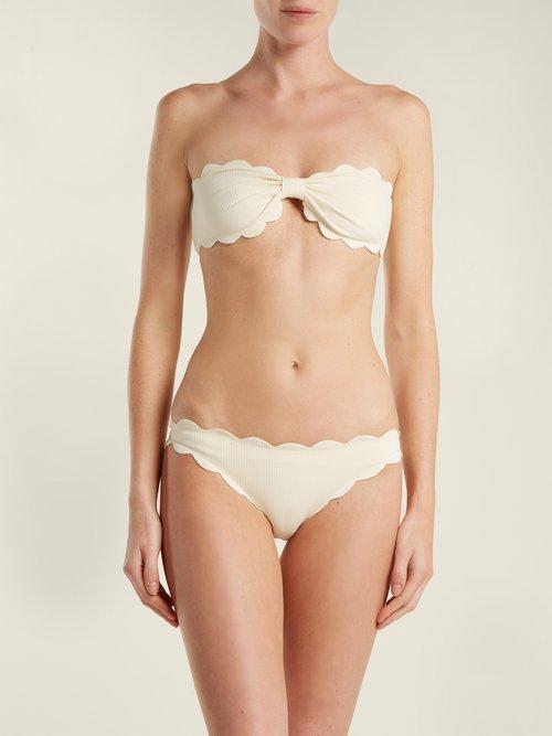 Antibes scallop-edge bikini briefs by Marysia