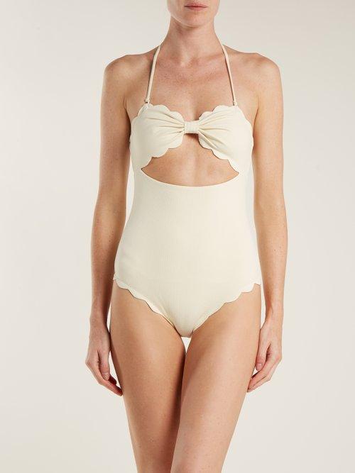 Antibes scallop-edged swimsuit by Marysia Swim
