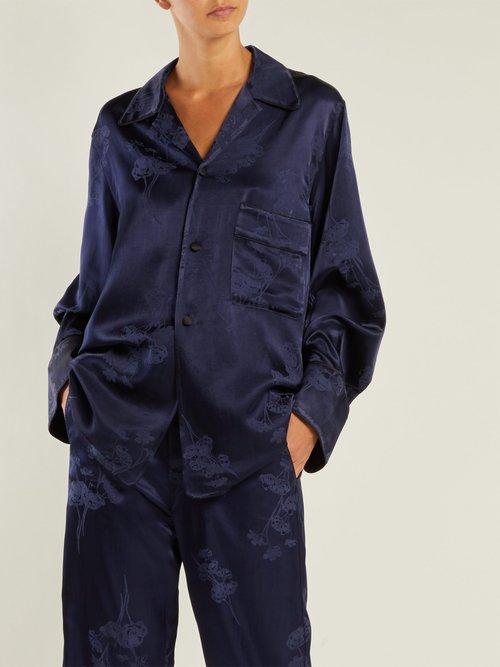 Oversized jacquard pyjama-style shirt by Mm6 Maison Margiela