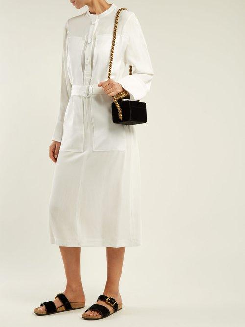 Fiocco mini velvet shoulder bag by Sanayi 313