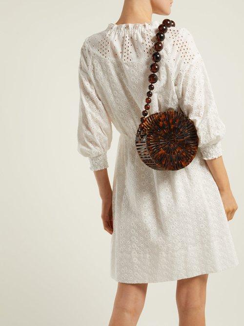 Luna acrylic shoulder bag by Cult Gaia