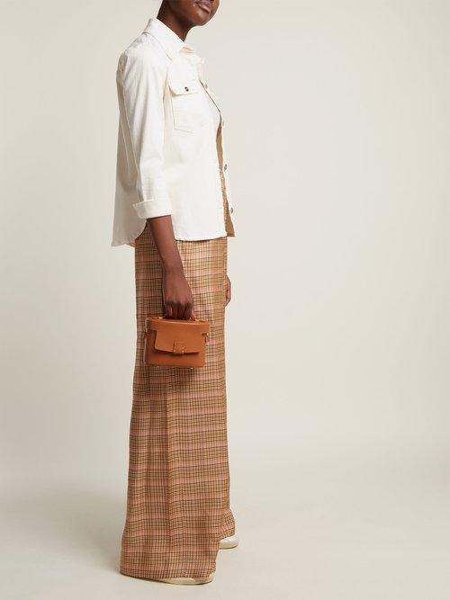 Frera mini matte leather cross-body bag by Nico Giani