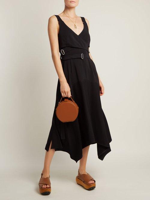 Tunilla mini matte leather circle bag by Nico Giani
