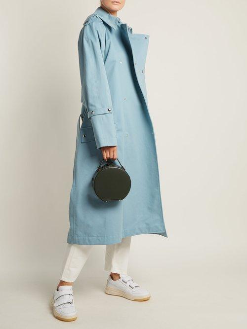 Tunilla mini matte-leather circle bag by Nico Giani