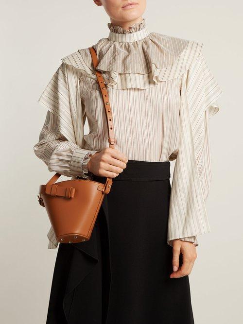 Photo of Nelia mini leather bucket bag by Nico Giani - shop Nico Giani handbags sales