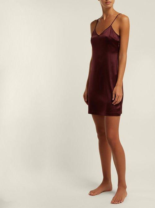 Silk Blend Satin Slip Dress by La Perla