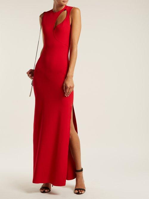 Cut Out Stretch Knit Dress by