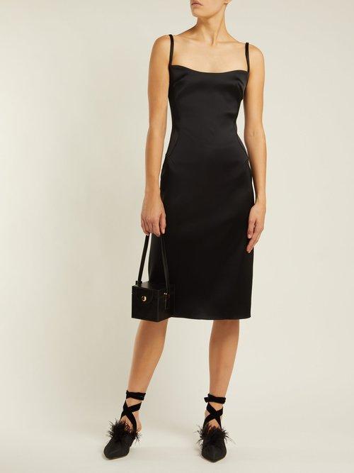 Satin Midi Dress by