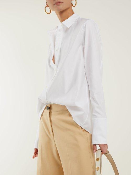 Oversized cuff cotton shirt by Stella Mccartney