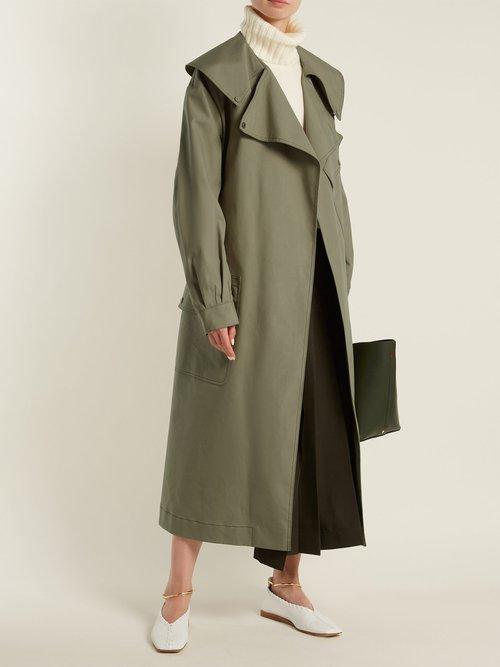 Damon Cotton Gabardine Trench Coat by Joseph