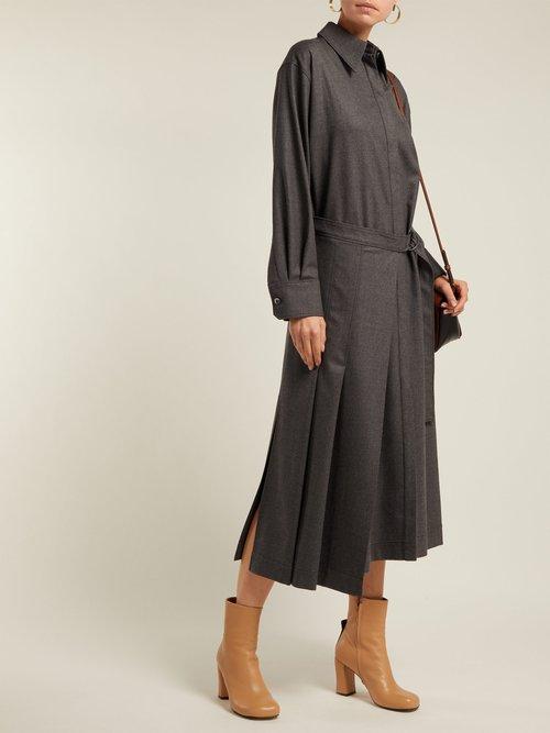 Irvine Tie Waist Cotton Blend Dress by Joseph