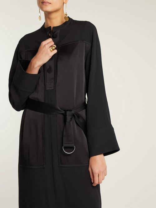 Shop Joseph Fort crepe dress online sale