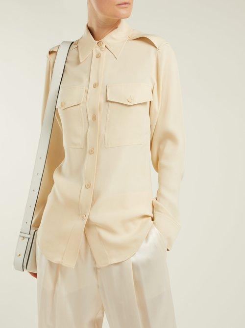 Rainer silk-crepe shirt by Joseph
