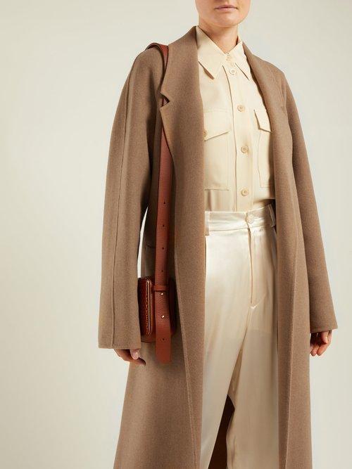 Solferino Belted Camel Hair Coat by Joseph