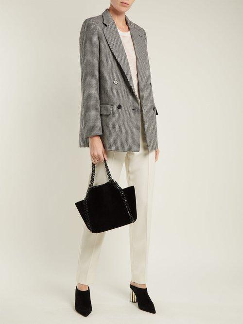 Falabella mini velvet reversible cross-body bag by Stella Mccartney