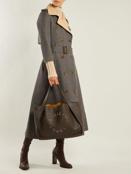 Stella studded logo faux-leather tote bag by Stella Mccartney