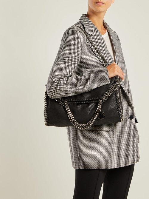 Falabella faux-suede shoulder bag by Stella Mccartney
