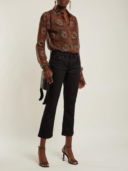 Paisley-print silk-blend blouse by Saint Laurent