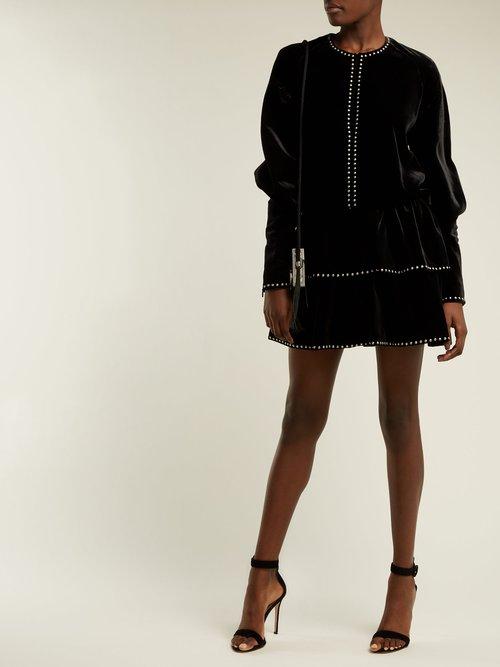 Studded velvet dress by Saint Laurent