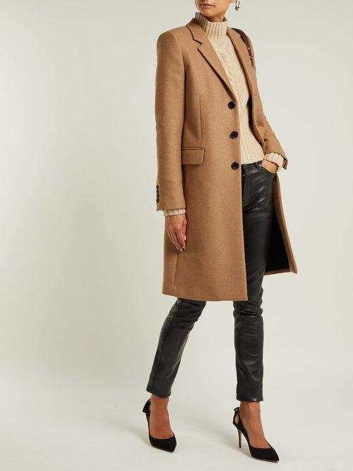 Chesterfield Camel Coat by Saint Laurent