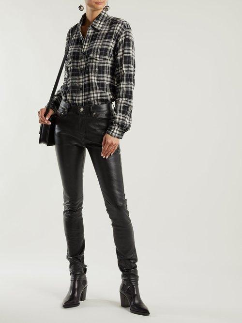 Plaid cotton shirt by Saint Laurent