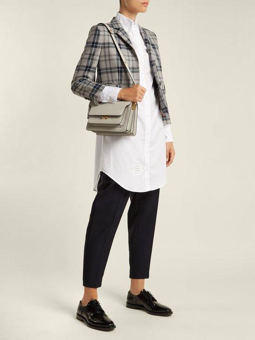 Tartan Wool Blend Blazer by Thom Browne