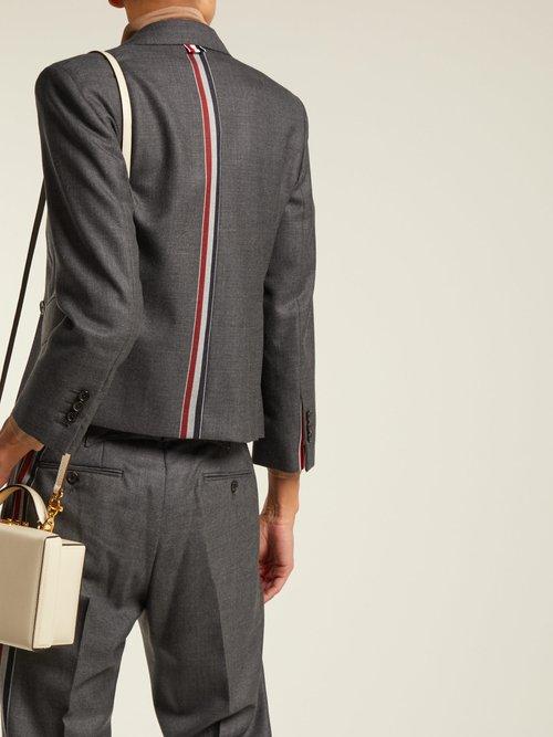 Striped wool suit jacket by Thom Browne