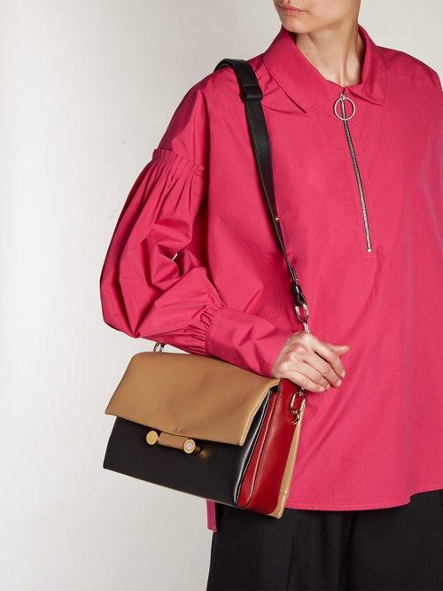 Cady leather cross-body bag by Marni