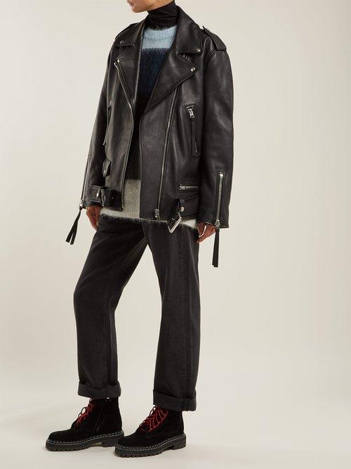 Leather Biker Jacket by Acne Studios