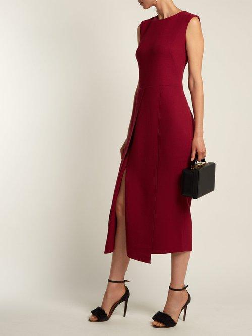 Franklin wool-crepe dress by Carl Kapp