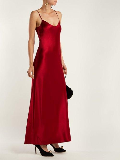 Sienna bias-cut satin crepe gown by Galvan