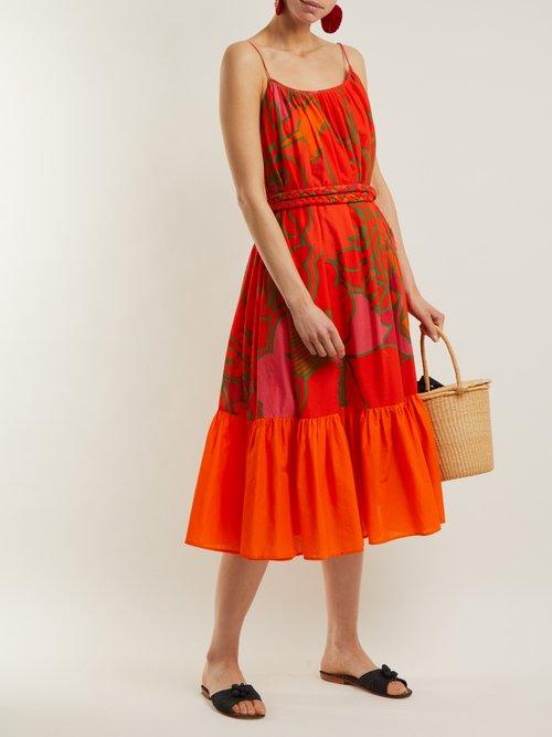 Lea floral-print cotton dress by Rhode Resort