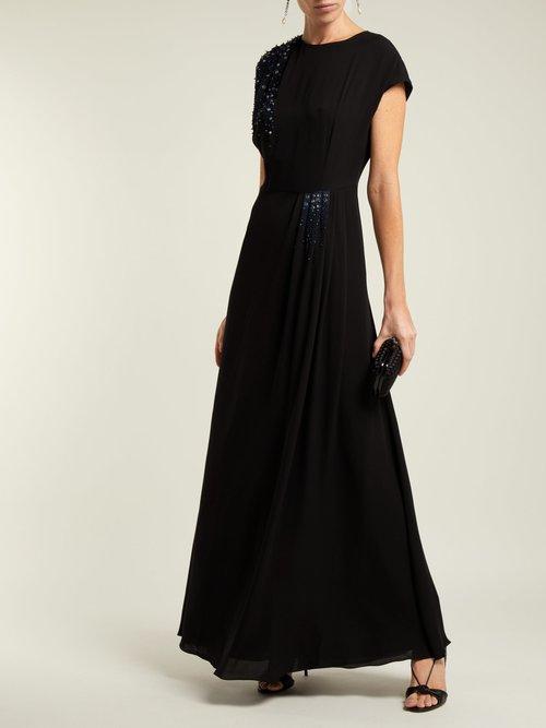 Beaded Silk Georgette Gown by Lanvin