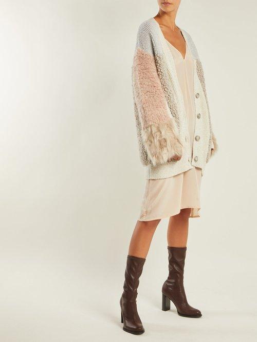 Block-heel faux-leather boots by Stella Mccartney
